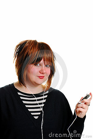 Teen with MP3 Player
