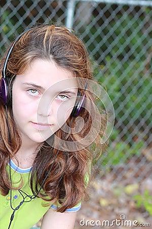 Teen music girl