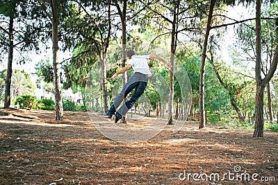 Teen in park