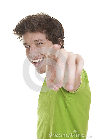 Person pointing