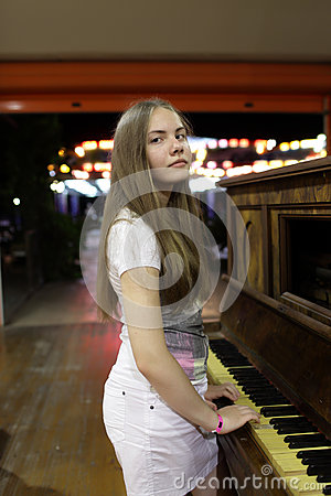Teen with piano