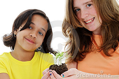 Teen With Plant