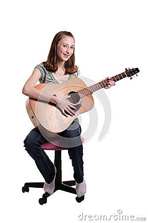 Teen Playing Guitar Grouping