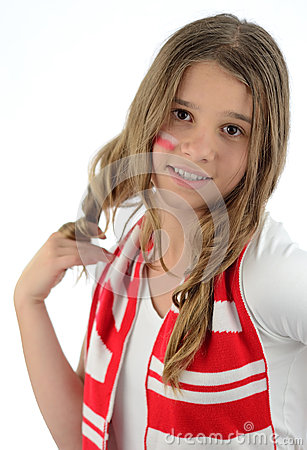 Teen Polish football supporter
