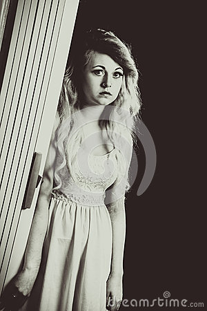 Teen portrait of serious teen