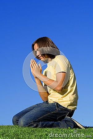 teen praying