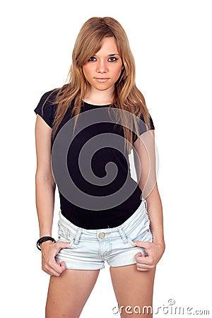 Teen rebellious girl