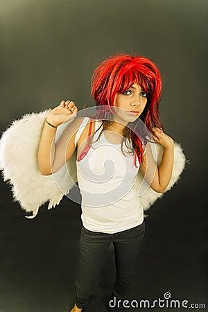 Teen redhead angel