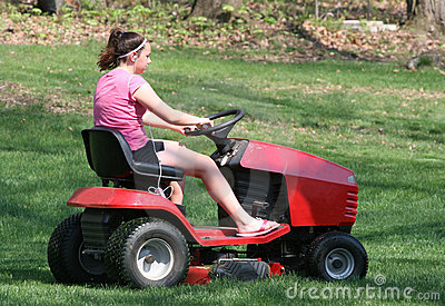 Teen Riding Mower