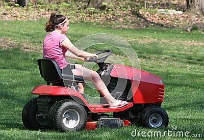 Teen Riding Mower