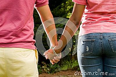 Teen romance -interracial couple