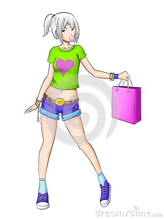 Teen shopping girl