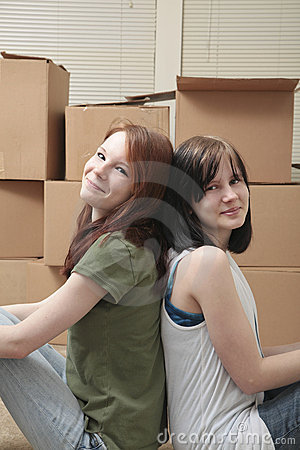 Teen sisters moving