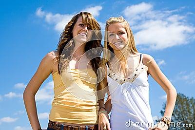 Teen Sisters Outdoors