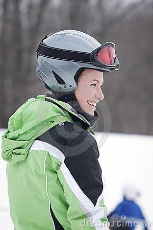 Teen skier