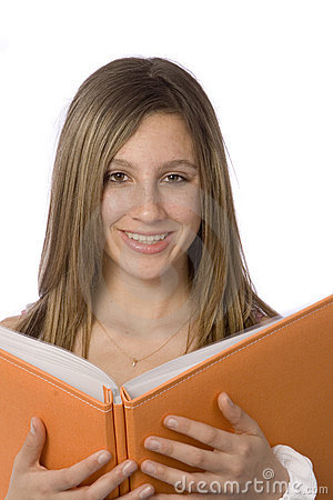 Teen smiling without glasses