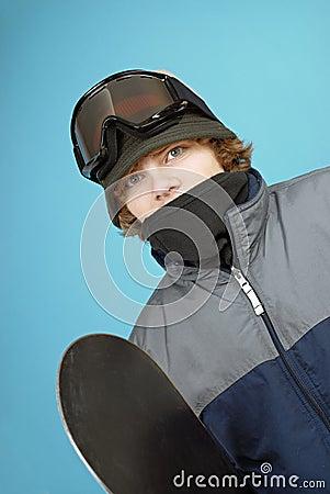 Teen snowboarder