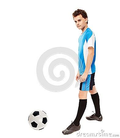 Teen soccer player