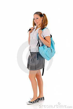 Teen student backpack lollipop