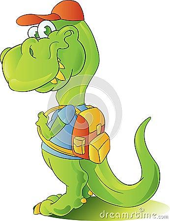 Teen student dinosaur