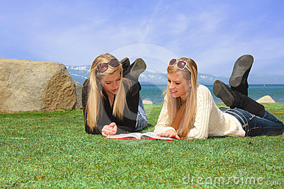 Teen Students Studying