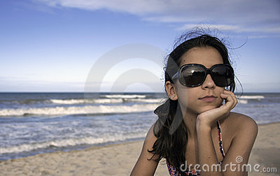 Teen with Sun Glasses