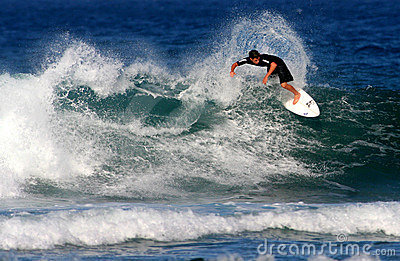 Teen Surfer in Surfing Competition Editorial Stock Photo