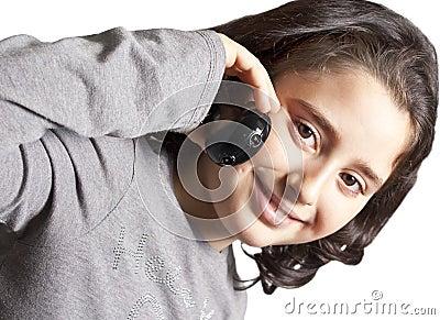 Teen talking on the phone