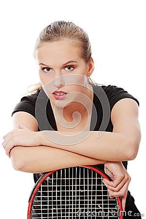 Teen tennis player