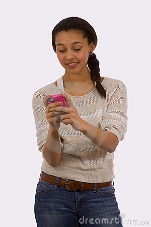 Teen Texting Stock Photos - Image: 23470723