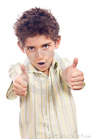Teen with thumbs up