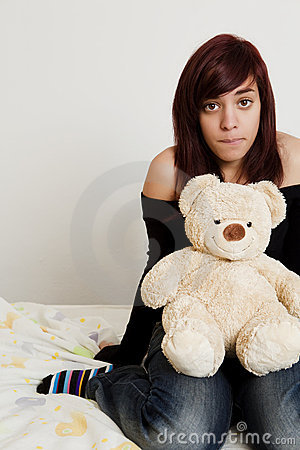 Teen with toy