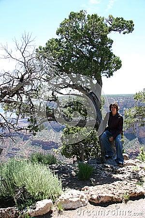 Teen in tree