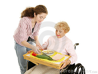 Teen Volunteer with Senior