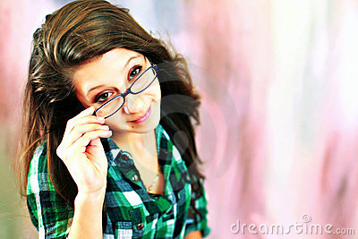 Teen wearing glasses