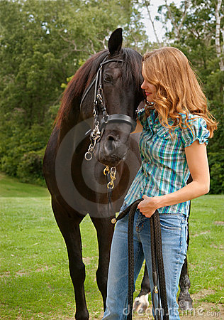 Free Teen With Horse Stock Photos - 4663073