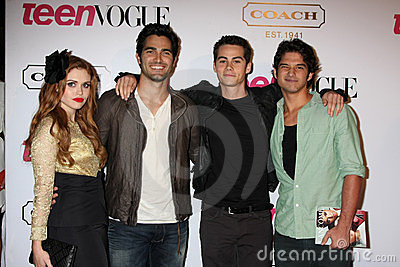 Teen Wolf Cast arriving at  the 9th Annual Teen Vogue Young Hollywood Party Editorial Photography