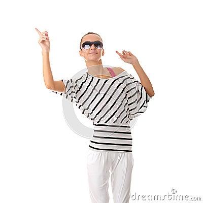 Teen woman dancing