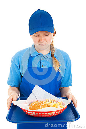 Teen Worker Disgusted by Fast Food