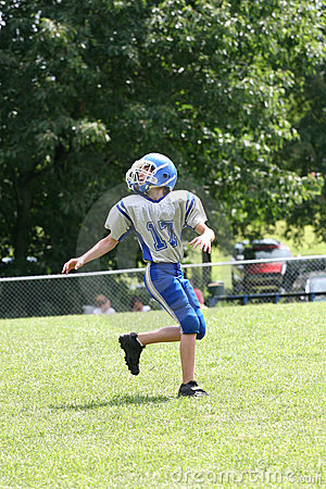 Teen Youth Football Ready to Catch Ball