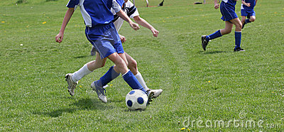Teen Youth Soccer Action