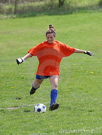 Teen Youth Soccer Goalie Action