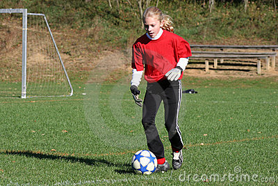Teen Youth Soccer Player Kicking Ball (2)