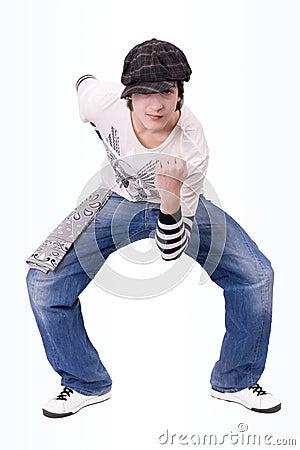 Teenage Boy Dancing Locking Or Hip-hop Dance Stock Images - Image 8649544