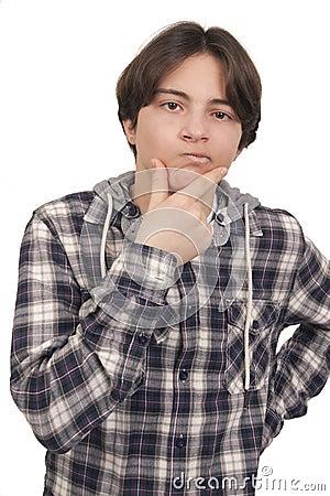 Teenage boy doubts