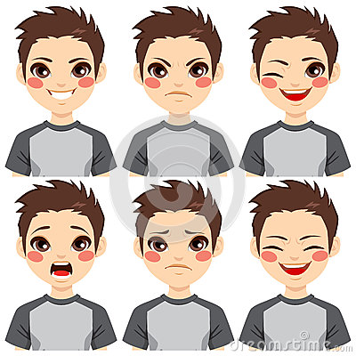 Free Teenage Boy Face Expressions Stock Images - 59691524