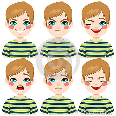 Free Teenage Boy Face Expressions Stock Image - 60352551