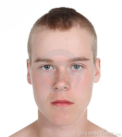 Teenage Boy With A Mohawk Hairstyle Stock Image Image
