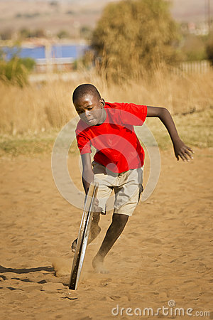Teenage Boy Playing with Wheel - More Action