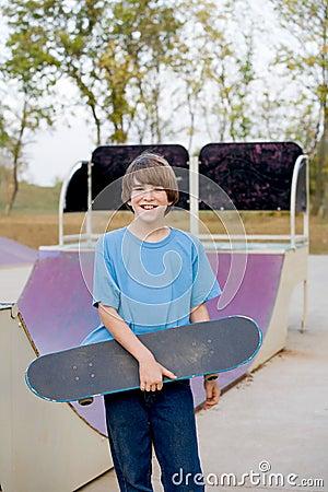 Free Teenage Boy Skateboarding Stock Image - 7009071